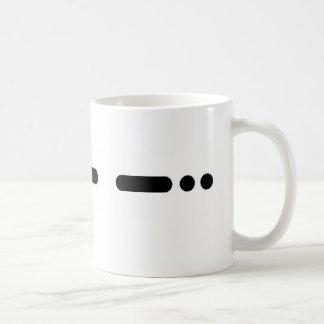 """""""PAPÁ"""" en taza del código Morse por Brownielocks"""