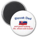 Papá eslovaco apuesto iman de frigorífico