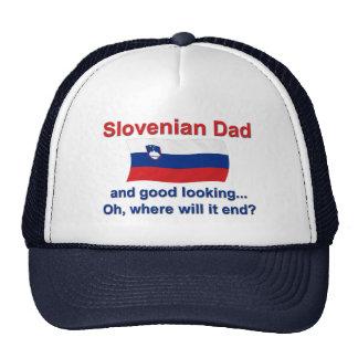 Papá esloveno apuesto gorras