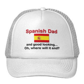 Papá español apuesto gorras