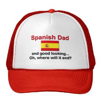 Papá español apuesto gorro de camionero