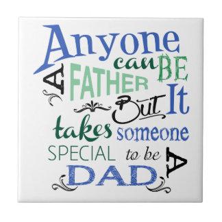 Papá especial azulejo cuadrado pequeño