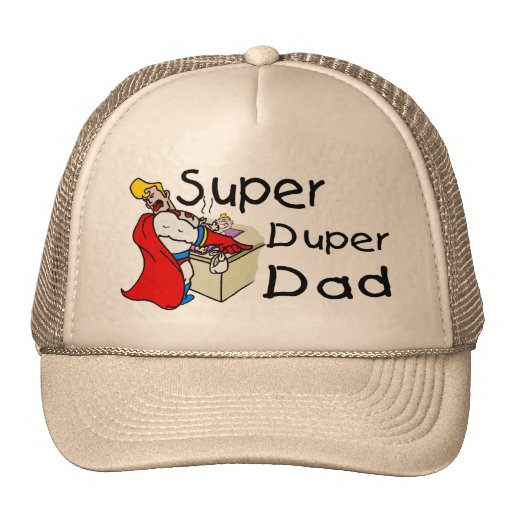 Papá estupendo de Duper (1) Gorros Bordados