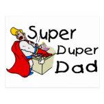 Papá estupendo de Duper (1) Tarjeta Postal