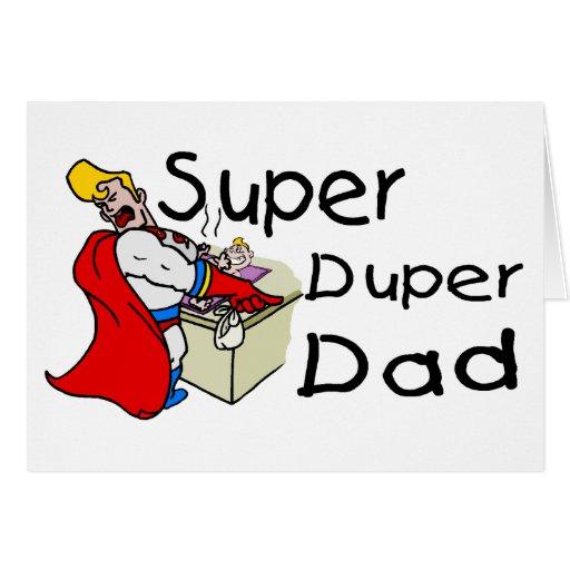 Papá estupendo de Duper Felicitaciones
