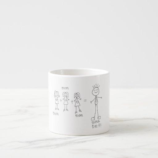 papá estupendo de la taza del espreso tan lindo tazitas espresso
