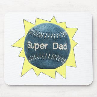 Papá estupendo del béisbol alfombrilla de ratones