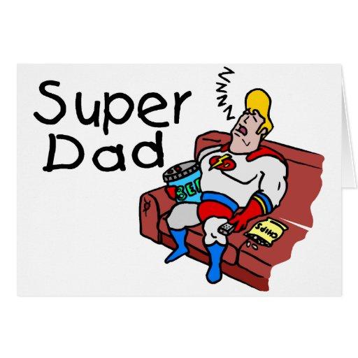Papá estupendo (el dormir) tarjeton