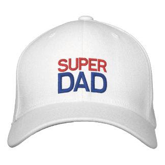 Papá estupendo - gorra blanco y azul rojo gorra de beisbol bordada