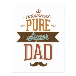 Papá estupendo puro del 100 por ciento postales
