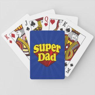 Papá estupendo, super héroe rojo/amarillo/el día barajas de cartas