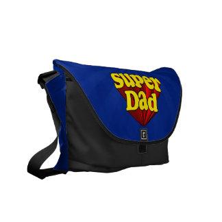 Papá estupendo, super héroe rojo/amarillo/el día d bolsas messenger