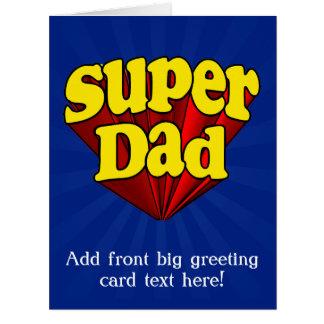 Papá estupendo, super héroe rojo/amarillo/el día d felicitación