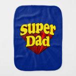 Papá estupendo, super héroe rojo/amarillo/el día d paños de bebé