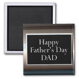 PAPÁ feliz del día de padre Imán Cuadrado