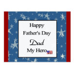 Papá feliz del día de padre mi héroe postal