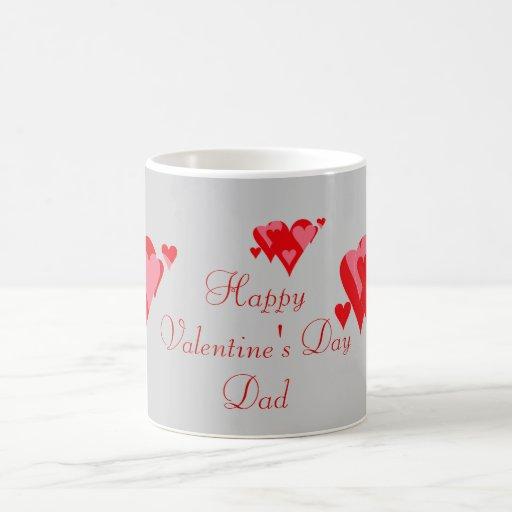 Papá feliz del día de San Valentín Tazas De Café