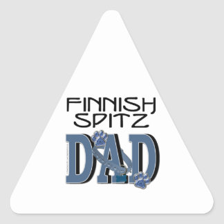 PAPÁ finlandés del perro de Pomerania Pegatina Triangular