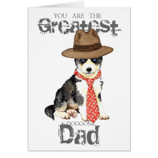 Papá fornido tarjeta de felicitación