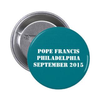 Papa Francisco Button Pin Redondo De 2 Pulgadas