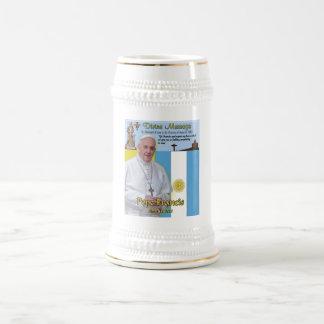 Papa Francisco Commemorative Mug Jarra De Cerveza