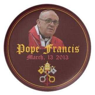 Papa Francisco Commemorative Plate Plato De Cena