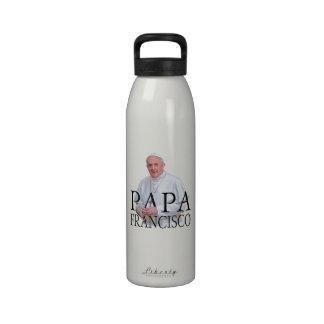 Papá Francisco del EL Botella De Agua Reutilizable