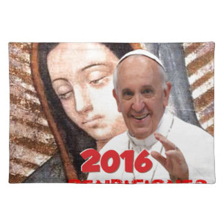 PAPA FRANCISCO MEXICO  2016 CUSTOMIZABLE PRODUCTS PLACEMAT