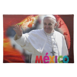 PAPA FRANCISCO MEXICO MUNDO ORIGINALS PRODUCTS CLOTH PLACEMAT