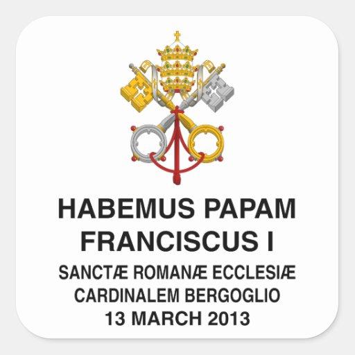 Papa Francisco Pegatina Cuadrada