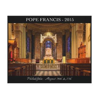 Papa Francisco Visit a Philadelphia 2015 Impresión En Lona Estirada