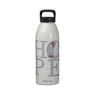 PAPA FRANCISCO y esperanza Botella De Agua