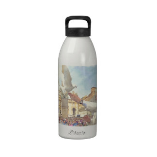 Papa Francisco y paloma del arte de la acuarela Botella De Beber