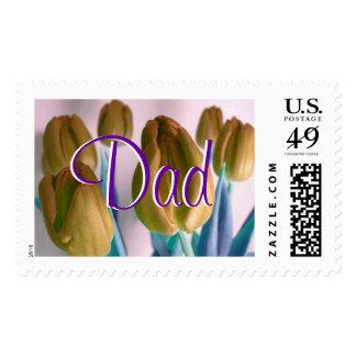 Papá - franqueo beige de los tulipanes I