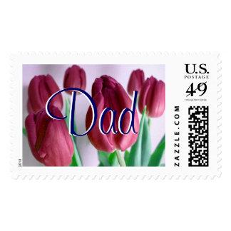 Papá - franqueo beige de los tulipanes II