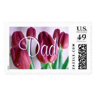 Papá - franqueo beige de los tulipanes III