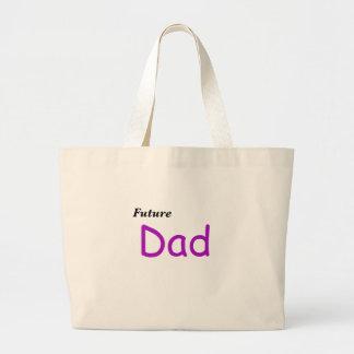 Papá futuro bolsa tela grande