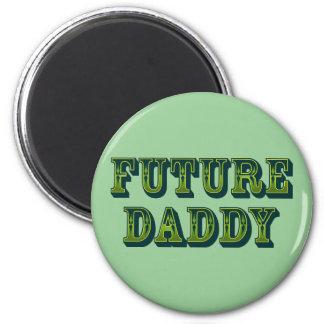 Papá futuro imán redondo 5 cm