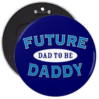 Papá futuro - papá a ser pin redondo 15 cm
