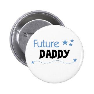 Papá futuro pin redondo 5 cm