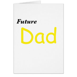 Papá futuro felicitación
