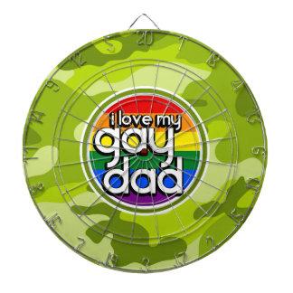 Papá gay camo verde claro camuflaje tablero dardos