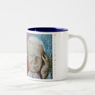 Papa Giovanni Paolo II, Pope, John, Paul II, Pa... Two-Tone Coffee Mug