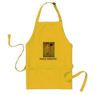 papa giraffe adult apron