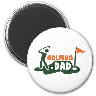 PAPÁ Golfing Imán Redondo 5 Cm