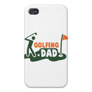 PAPÁ Golfing iPhone 4/4S Carcasas
