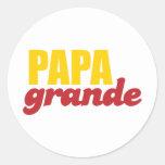 Papá grande - papá grande pegatina redonda