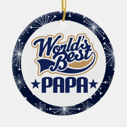 Papa Grandpa (Worlds Best) Christmas Gift Christmas Ornament