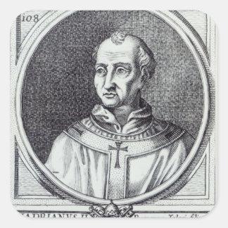 Papa Hadrian II Pegatina Cuadrada