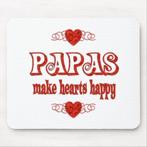Papa Hearts Mouse Pad